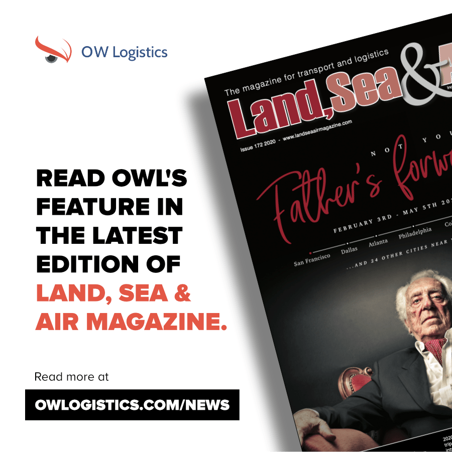 OWLogistics | Company News - OWL feature in January's edition of Land Sea and Air